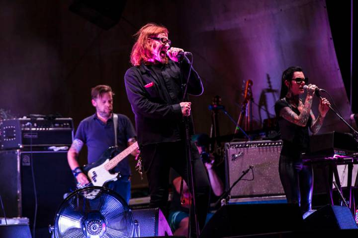 Mark Lanegan performs at the beach stage during the Psycho Las Vegas music festival at Mandalay ...