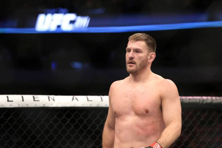 Stipe Miocic is shown in a photo from Saturday, May 13, 2017, in Dallas. (AP Photo/Gregory Payan)