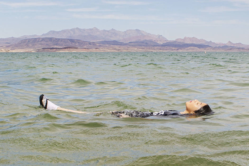 Angelica Martinez, 11, cools off at Boulder Beach on Sunday, Aug. 18, 2019, in Boulder City. (M ...