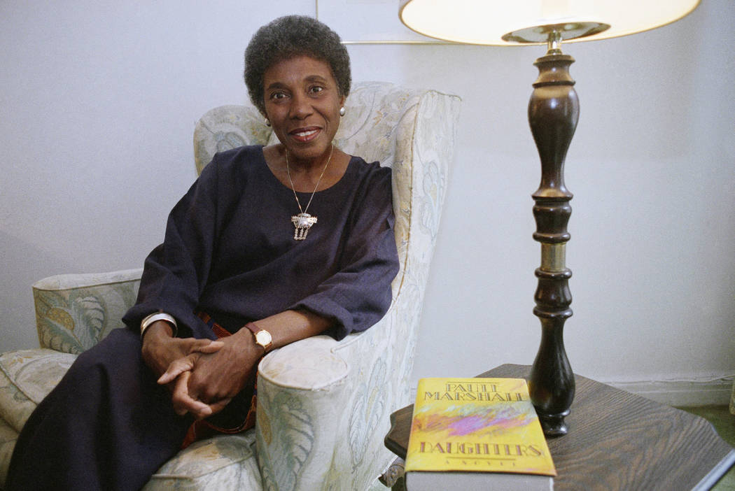 FILE - In this Nov. 22, 1991 file photo, author Paule Marshall poses during an interview, in Ne ...