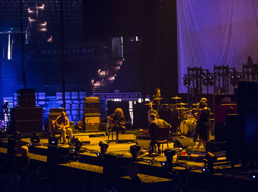 Godspeed You! Black Emperor performs at the Mandalay Bay Events Center during the Psycho Las Ve ...