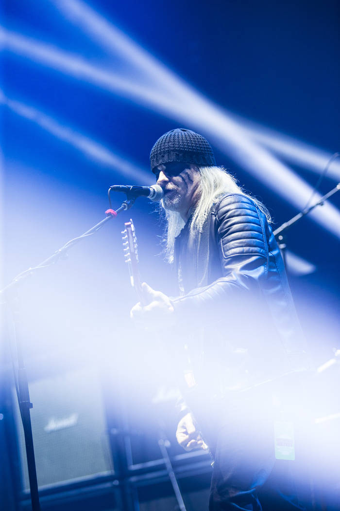 Thomas Gabriel Fischer, or Tom G. Warrior, of Triumph of Death, performs at the Mandalay Bay Ev ...