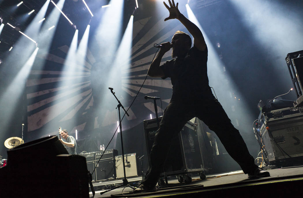 Neil Fallon, of Clutch, performs at the Mandalay Bay Events Center during the Psycho Las Vegas ...