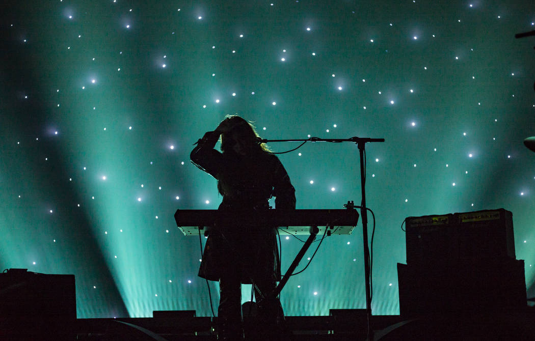 Victoria Legrand, of Beach House, performs at the Mandalay Bay Events Center during the Psycho ...