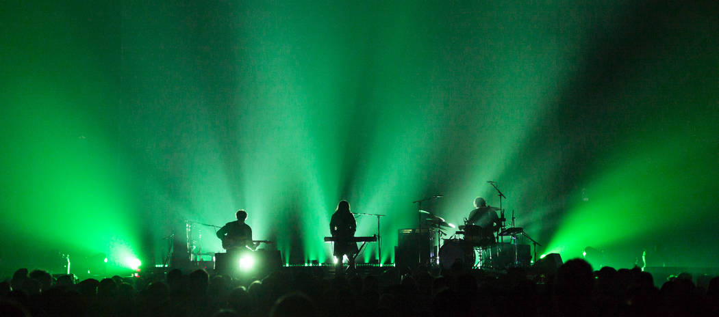 Beach House performs at the Mandalay Bay Events Center during the Psycho Las Vegas music festiv ...