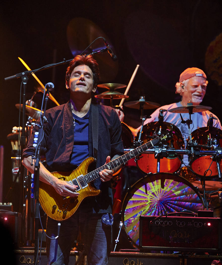 Seen here John Mayer, Bill Kreutzmann of Dead & Company in concert at New York's Madis ...