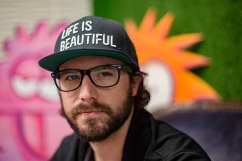 Lee Flint, the culinary director for Life Is Beautiful Festival, at the Life Is Beautiful Festi ...