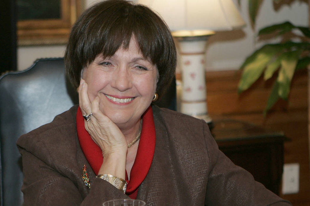 FILE - In this Dec. 18, 2007, file photo, Louisiana Gov. Kathleen Blanco conducts an interview ...
