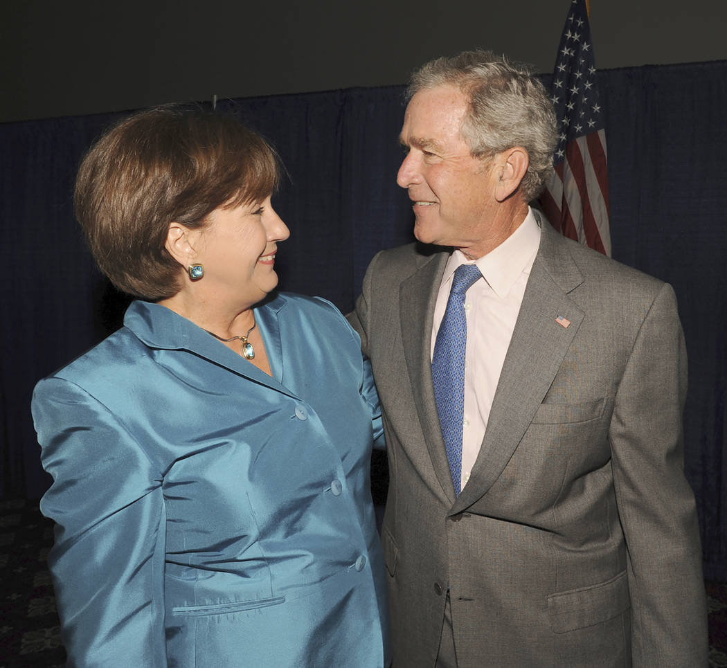 FILE - In a Tuesday, May 24, 2011 file photo, former Louisiana Gov. Kathleen Blanco greets form ...