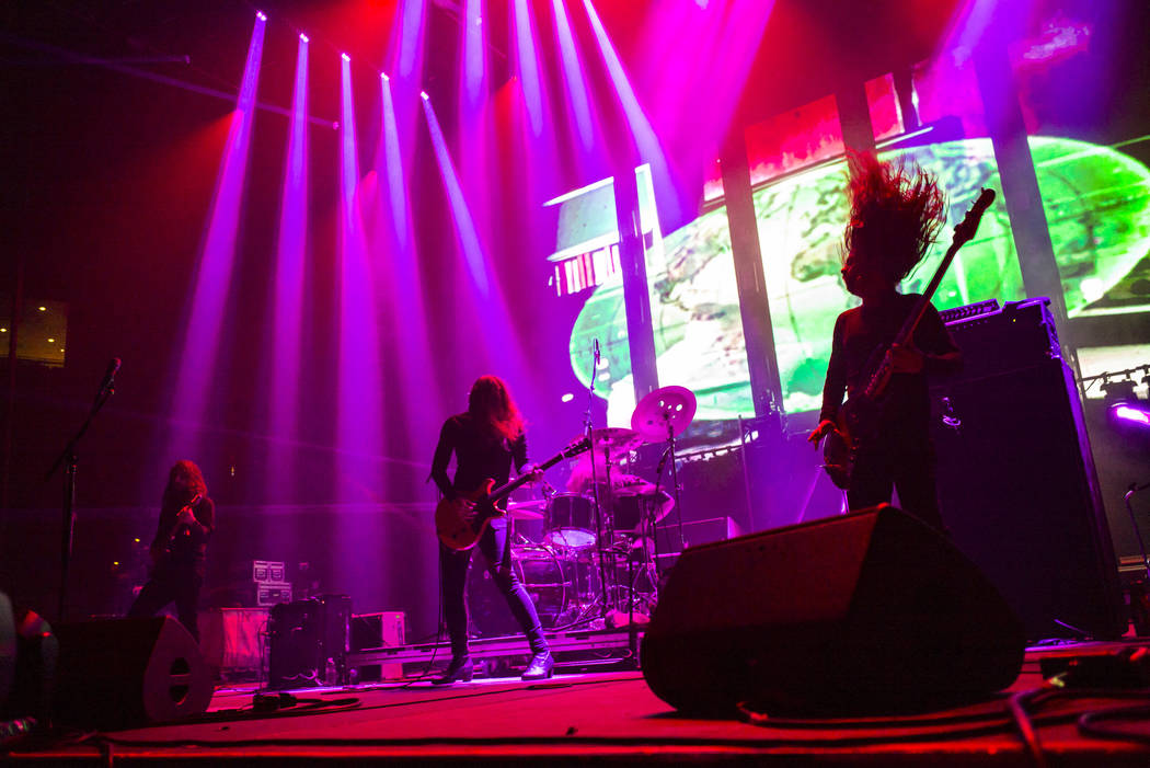 Uncle Acid & the Deadbeats perform at the Mandalay Bay Events Center during the Psycho Las Vega ...