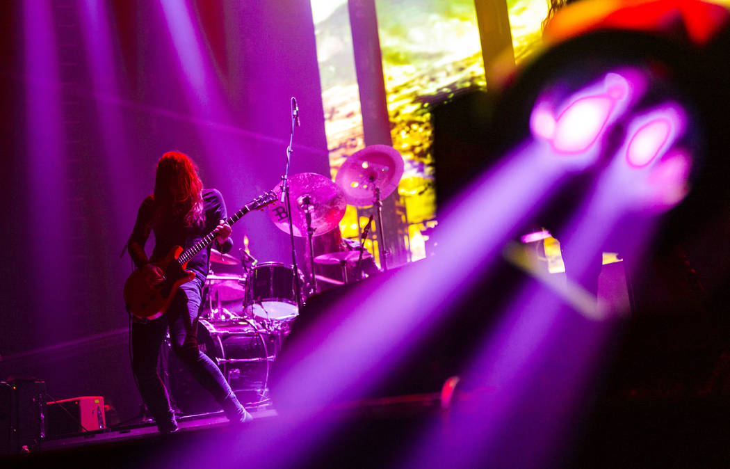 Kevin R. Starrs, of Uncle Acid & the Deadbeats, performs at the Mandalay Bay Events Center duri ...