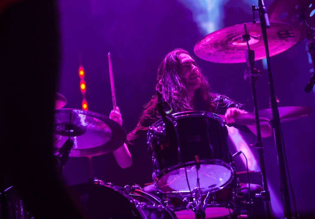 Jon Rice, of Uncle Acid & the Deadbeats, performs at the Mandalay Bay Events Center during the ...