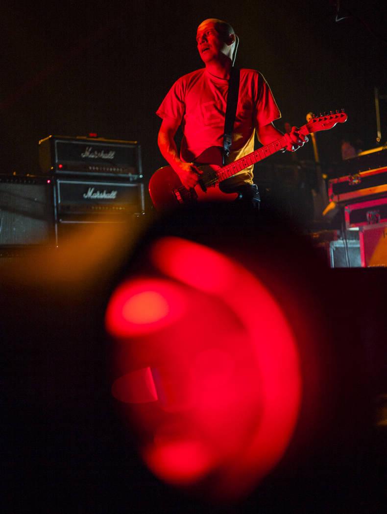 Stuart Braithwaite, of Mogwai, performs at the Mandalay Bay Events Center during the Psycho Las ...
