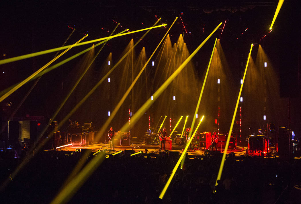 Mogwai performs at the Mandalay Bay Events Center during the Psycho Las Vegas music festival in ...