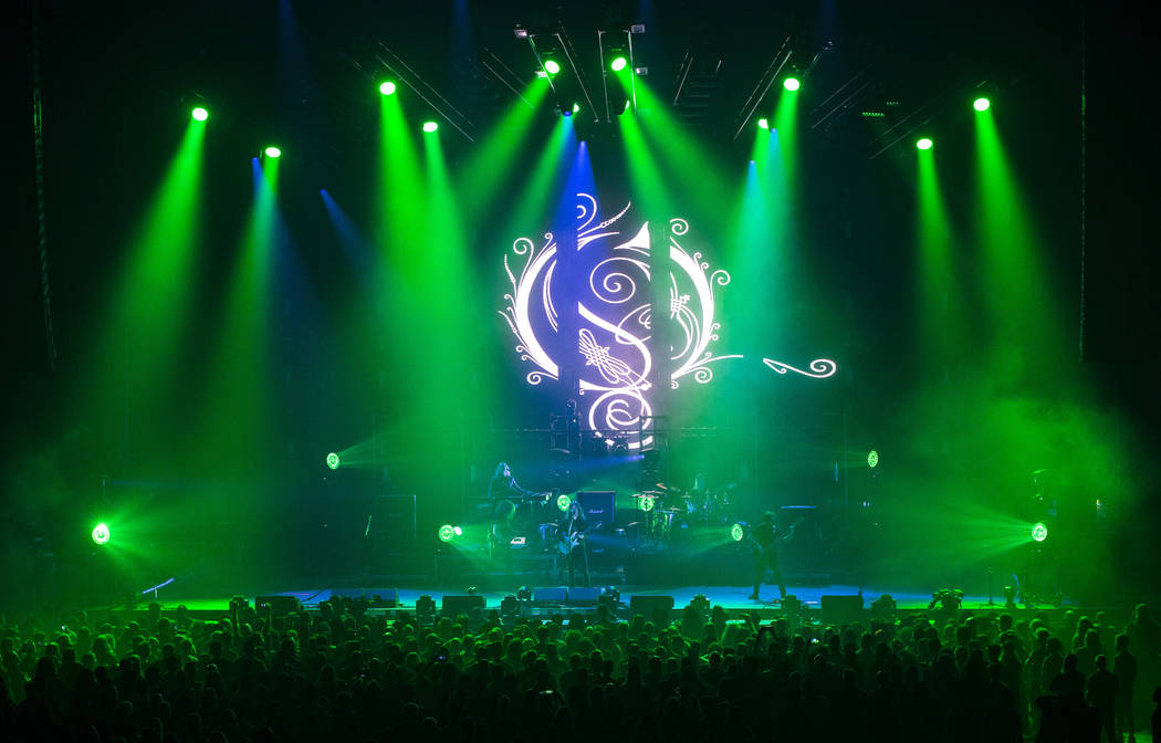 Opeth performs at the Mandalay Bay Events Center during the Psycho Las Vegas music festival in ...
