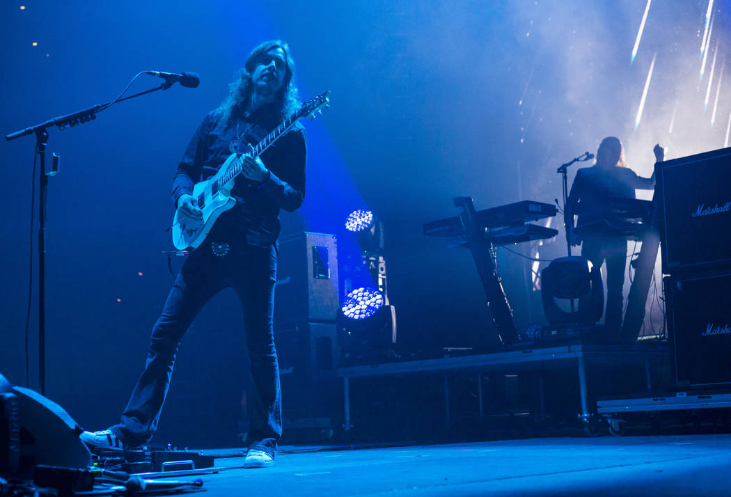 Mikael Akerfeldt, of Opeth, performs at the Mandalay Bay Events Center during the Psycho Las Ve ...