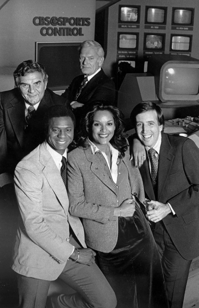"""The cast of CBS-TV's """"NFL Today"""" show pose in this undated photo. Clockwise from top ..."""
