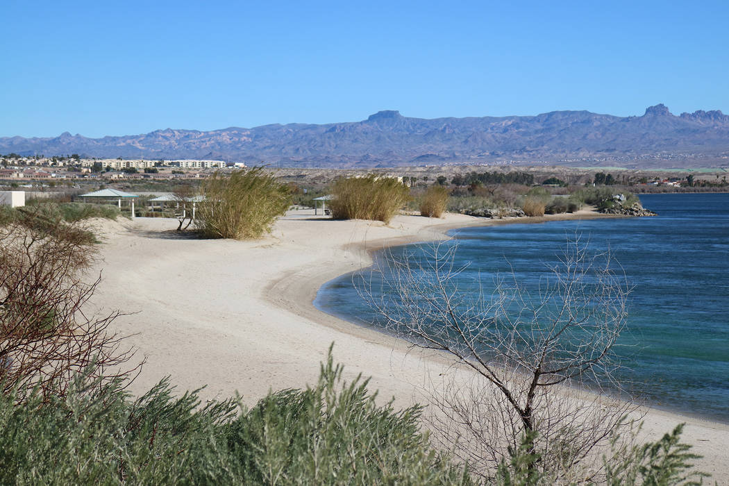 Big Bend of the Colorado State Recreation Area boasts about two miles of shoreline with sandy b ...