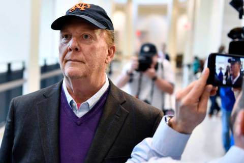 Chef Mario Batali arrives for arraignment, Friday, May 24, 2019, at municipal court in Boston, ...