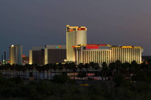 Hotel-casinos sit alongside the Colorado River in Laughlin in a Tuesday, June 25, 2013, file ph ...
