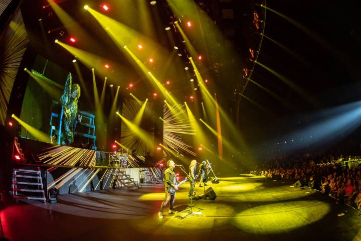 Joe Elliott is shown as Def Leppard opens its 12-show residency run at Zappos Theater at Planet ...