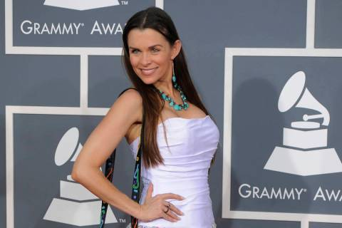 In a Feb. 12, 2012, file photo, Alicia Arden arrives on the red carpet at the 54th annual Gramm ...