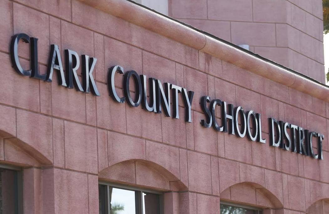 Clark County School District headquarters on West Sahara Avenue in Las Vegas. (Review-Journal f ...