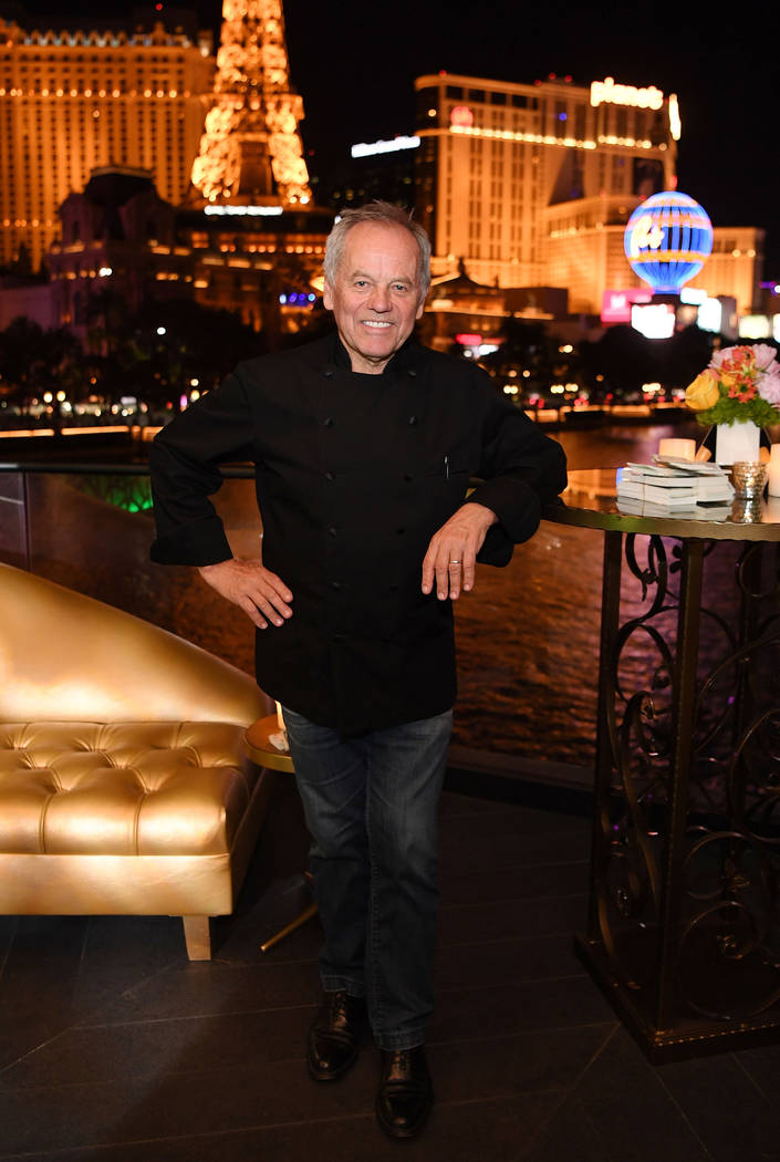 Wolfgang Puck poses for a photo at Spago at Bellagio on May 20, 2018 in Las Vegas, Nevada. (Ph ...