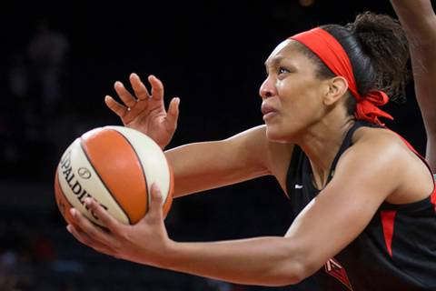 Las Vegas Aces center A'ja Wilson (Benjamin Hager/Las Vegas Review-Journal) @benjaminhphoto