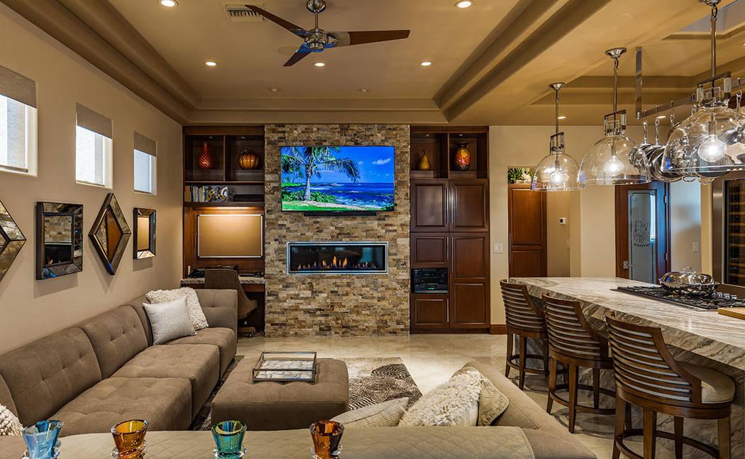 The living room. (David Reisman Real Estate Millions)
