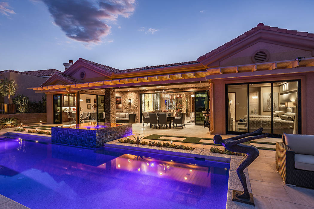 Robert Allen and Doralee Rae remodeled their Sun City Summerlin home as a mini-version of their ...