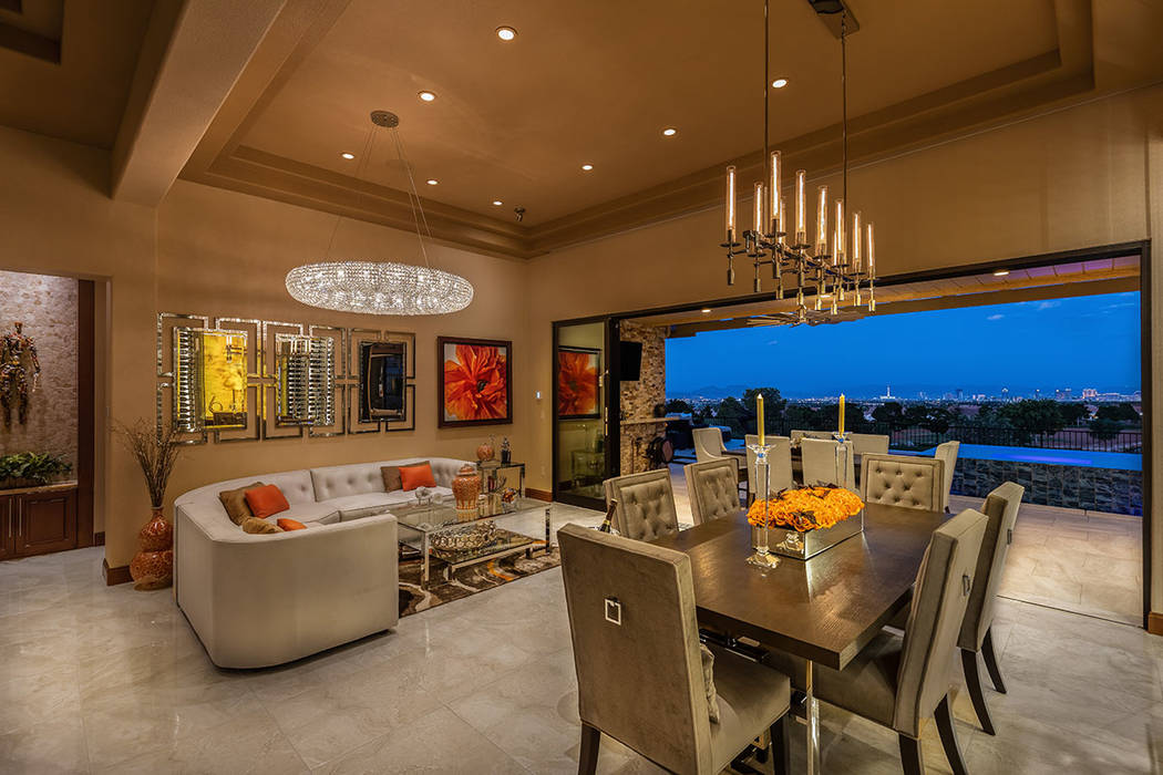 Like their Red Rock Country Club mansion, the couple's home has outdoor/indoor living features. ...