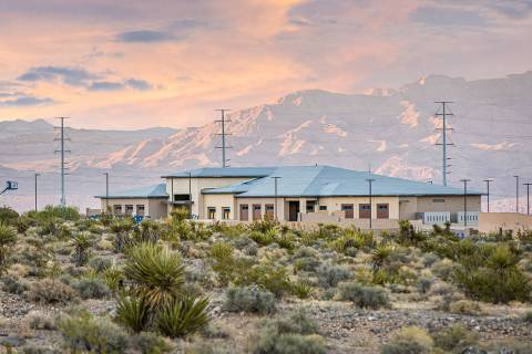 A Las Vegas Metropolitan Police Department substation is under construction on 4.75 acres west ...
