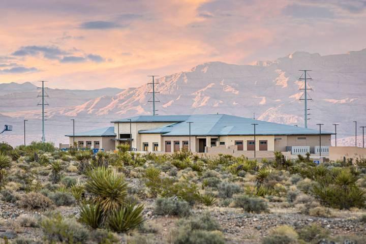 A Las Vegas Metropolitan Police Department substation is under construction on 4.75 acres west ...