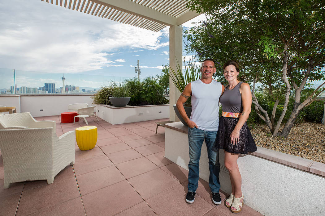 Brenda and Dan Dinga purchased a condo in The Ogden, a downtown Las Vegas high-rise. (The Ogden)