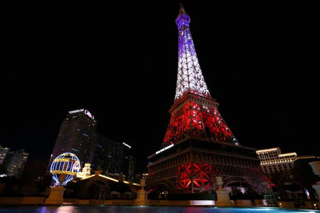 The resort debuted a $1.7 million light show at the Eiffel Tower on Feb. 27, 2019, on the Las V ...