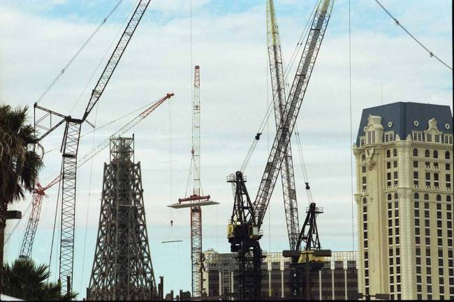 Crane your neck and you should see the top of the tower, which consists of 5,000 tons of welded ...