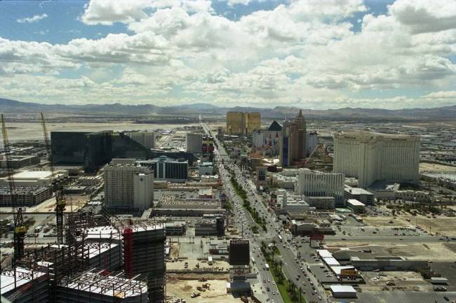 This is what the Strip looked like from above in April 1999, five months before the resort offi ...