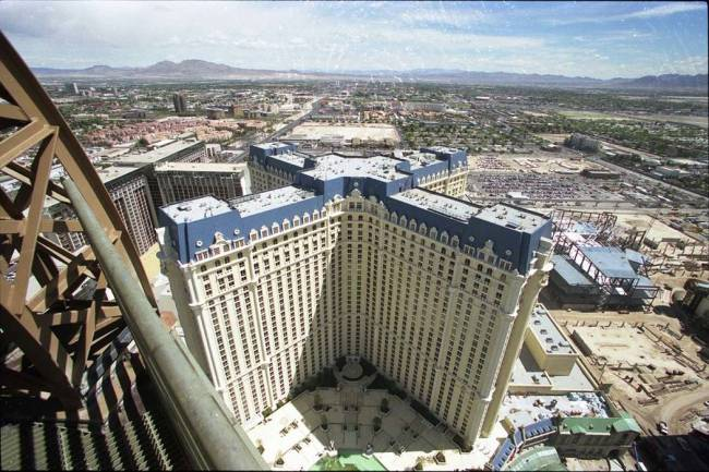 The hotel tower has quite a few more years to go before it's as old as the building after whi ...