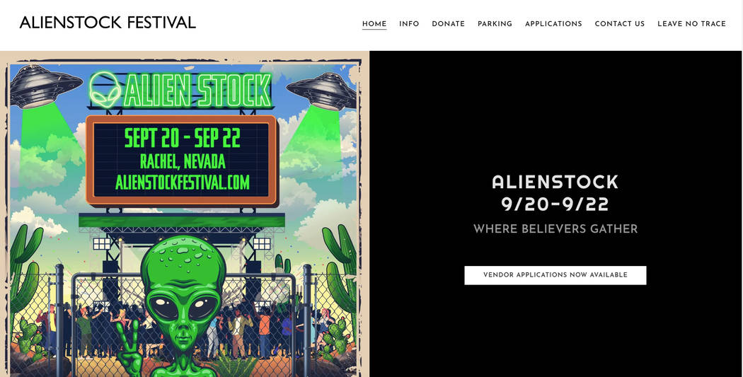 A screenshot of the Alienstock Festival website. (alienstockfestival.com)