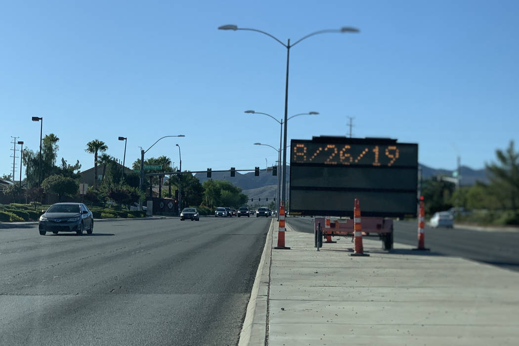 A $2.25 million repaving project will improve Eastern Avenue between St. Rose and Horizon Ridge ...