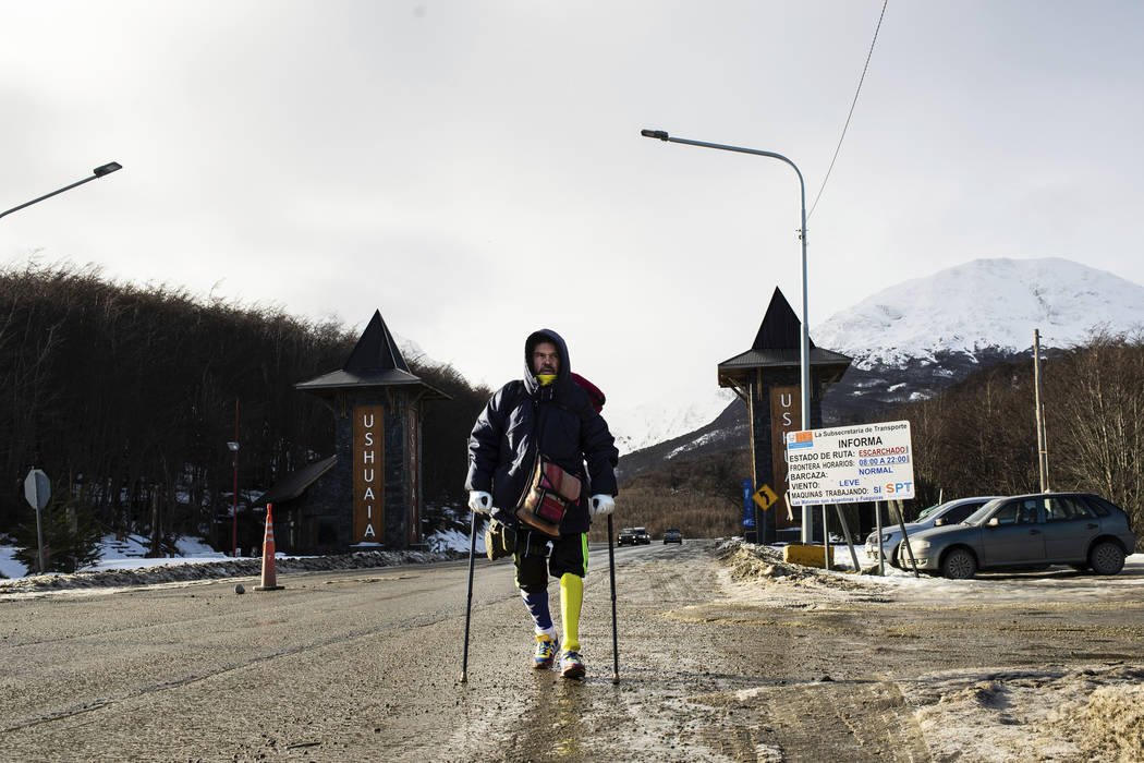 Venezuelan Yeslie Aranda, 57, makes good on his promise to travel throughout South America with ...