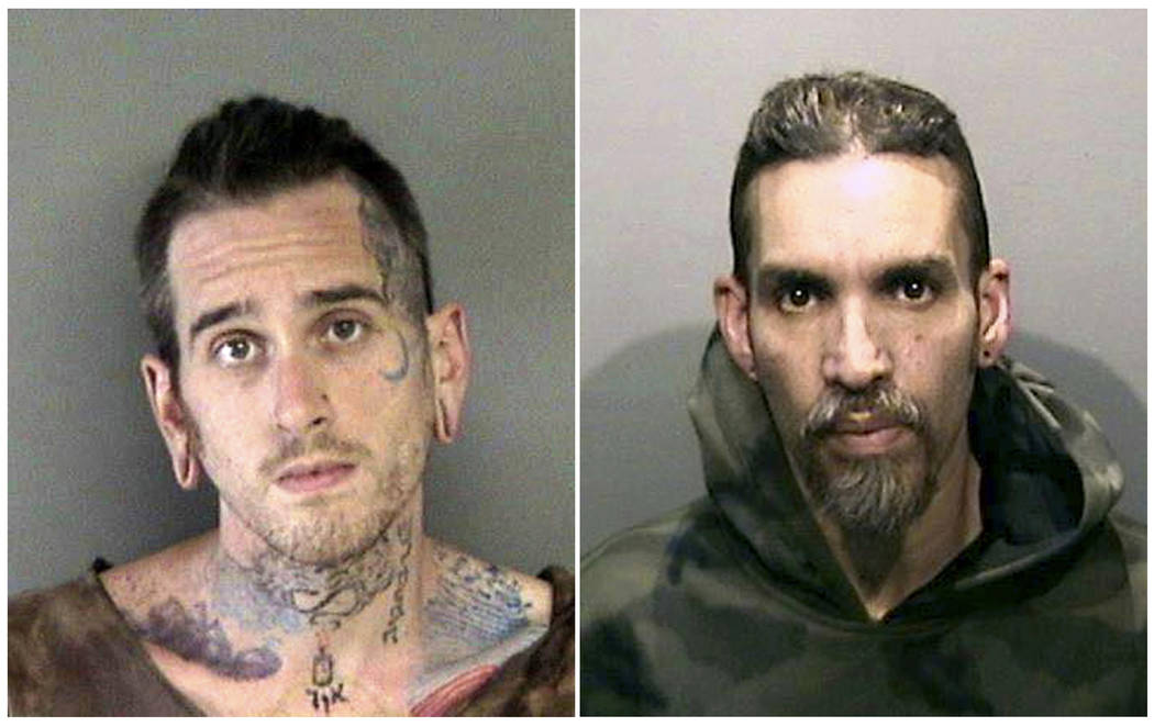 FILE - This combination of June 2017, file booking photos provided by the Alameda County Sherif ...