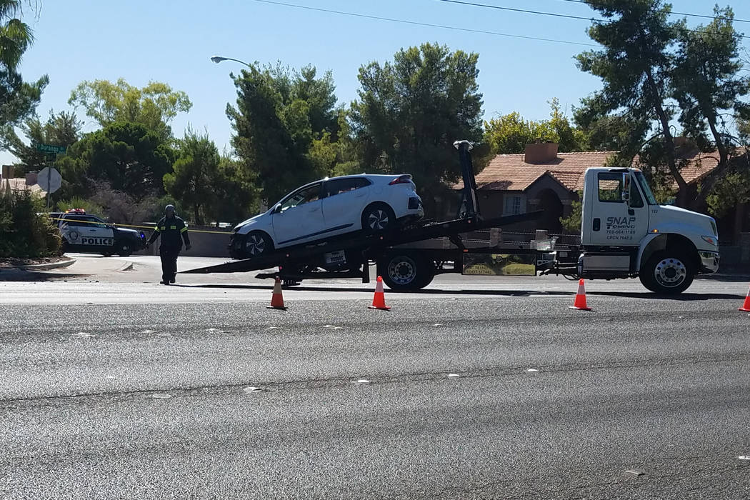 A motorists died after a single-car crash near South Durango Drive and Eldora Avenue in western ...