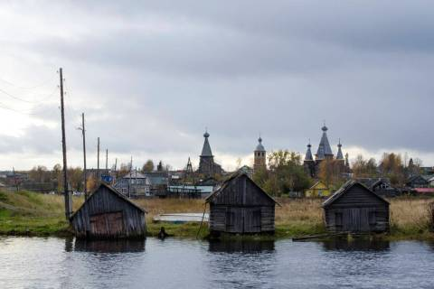 This photo taken on Oct. 7, 2018, shows a village of Nyonoksa, northwestern Russia. The Aug. 8, ...