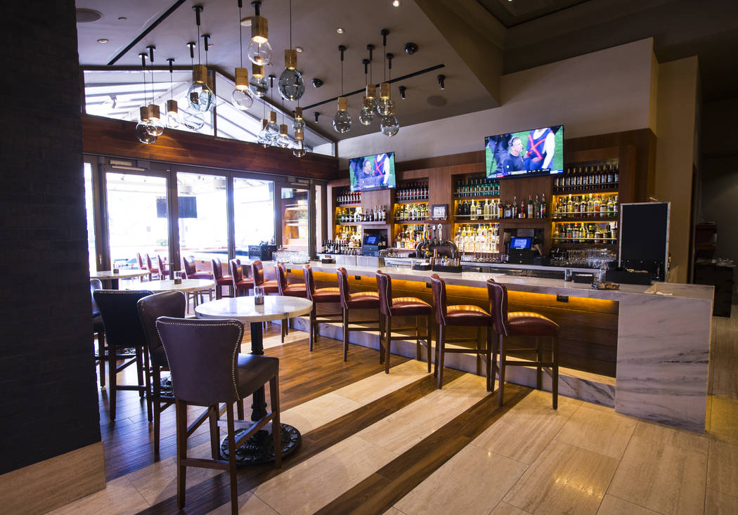 A view of the bar area at Terra Rossa at Red Rock Resort in Las Vegas on Wednesday, Aug. 14, 20 ...