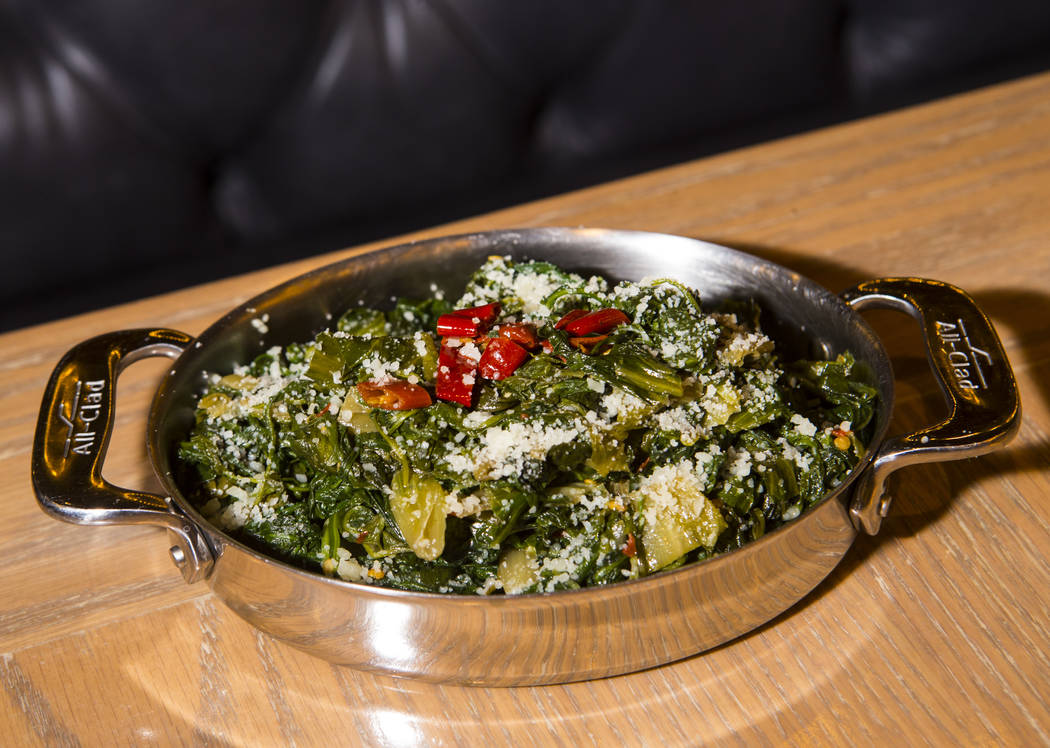 Italian greens at Terra Rossa at Red Rock Resort in Las Vegas on Wednesday, Aug. 14, 2019. (Cha ...