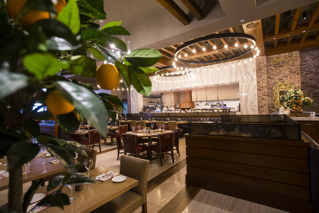 A view of the dining room at Terra Rossa at Red Rock Resort in Las Vegas on Wednesday, Aug. 14, ...
