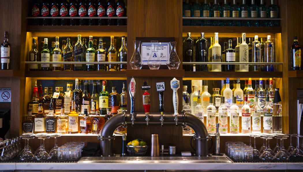 A view of the bar at Terra Rossa at Red Rock Resort in Las Vegas on Wednesday, Aug. 14, 2019. ( ...