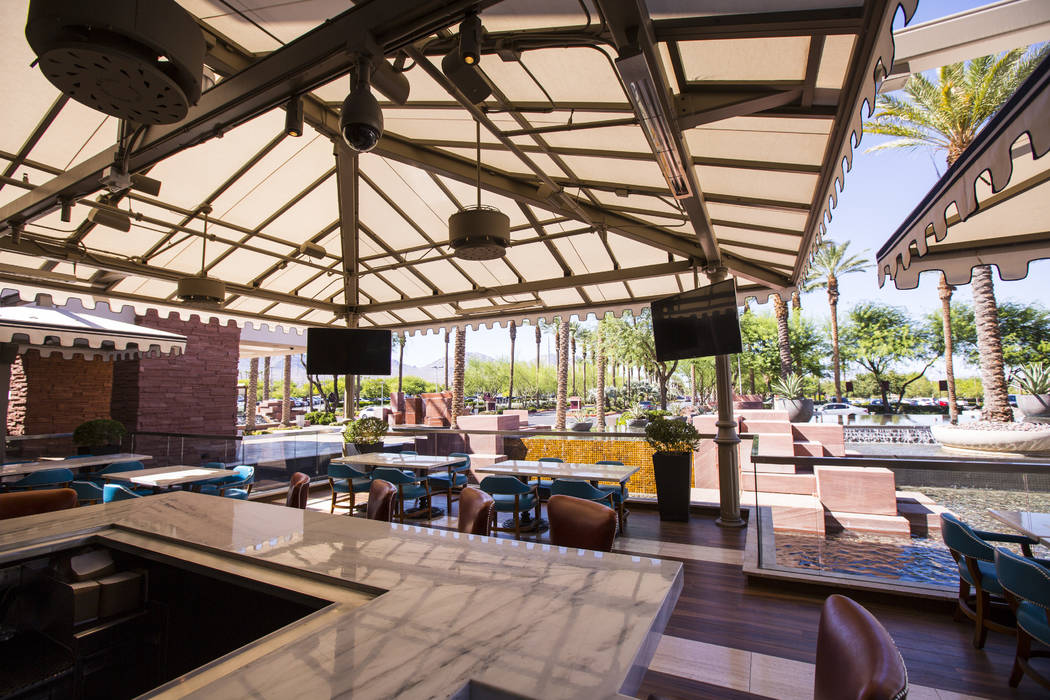 A view of the outdoor patio at Terra Rossa at Red Rock Resort in Las Vegas on Wednesday, Aug. 1 ...